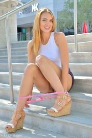 glamorous blonde babe loves