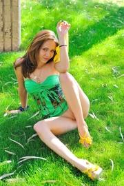 petite brunette yellow panties