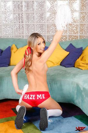 Slutty cheerleader blondie blows a fine  - XXX Dessert - Picture 8