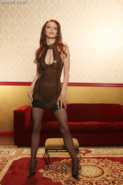 steaming hot redhead pose