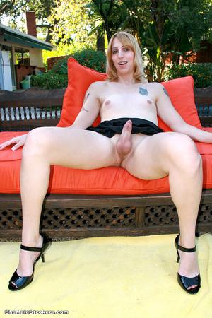 Dark haired trans chick showing her big  - XXX Dessert - Picture 3