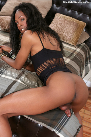 fine ebony tranny showing