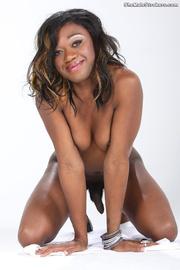 petite ebony tranny displaying