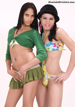 Two brown trannies are ready for hot ora - XXX Dessert - Picture 4