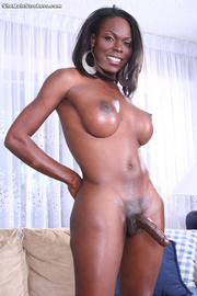 curvy black tranny showing