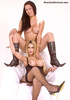 Two hot trannies in boots love sexy posing
