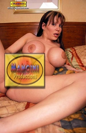 Long haired brunette tranny stroking her - XXX Dessert - Picture 4