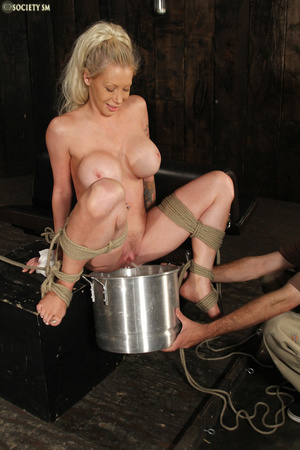 Hot busty blonde racked and gagged enjoy - XXX Dessert - Picture 3