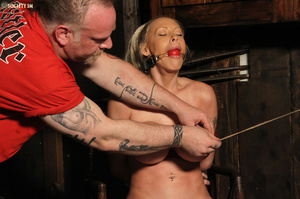 Hot busty blonde racked and gagged enjoy - XXX Dessert - Picture 10