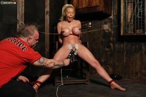 Hot busty blonde racked and gagged enjoy - XXX Dessert - Picture 12