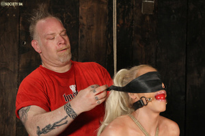 Hot busty blonde racked and gagged enjoy - XXX Dessert - Picture 13