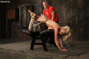 Hot busty blonde racked and gagged enjoy - XXX Dessert - Picture 14
