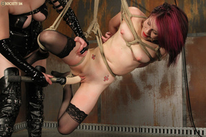 Nasty redhead pulls babe's hair, ties he - XXX Dessert - Picture 14