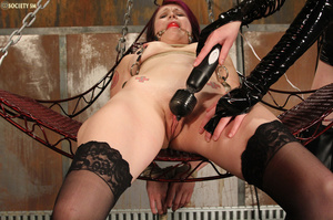 Nasty redhead pulls babe's hair, ties he - XXX Dessert - Picture 16