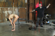 curvy blonde pegged roped