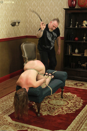 sexy babe roped electrocuted