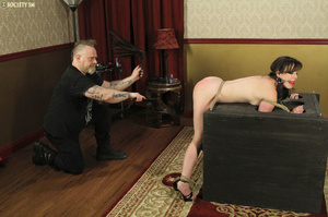 Hark hair slut tied, upturned and hung g - XXX Dessert - Picture 15