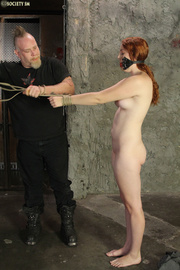 creamy redhead tied and