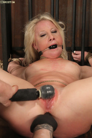 cute blonde bound upturned