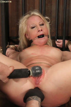 Cute blonde bound, upturned and whipped  - XXX Dessert - Picture 4