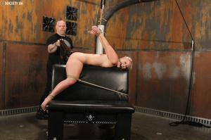 Cute blonde bound, upturned and whipped  - XXX Dessert - Picture 12
