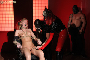 Tall curvy blonde gets roped, tortured a - XXX Dessert - Picture 14