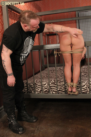 Cute butte brunette roped and bound gets - XXX Dessert - Picture 3