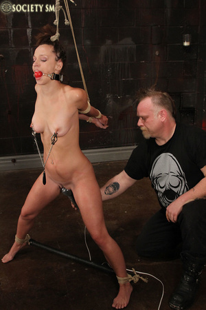 Cute butte brunette roped and bound gets - XXX Dessert - Picture 8