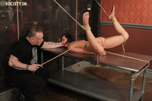 Cute butte brunette roped and bound gets - XXX Dessert - Picture 14