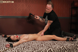 Cute butte brunette roped and bound gets - XXX Dessert - Picture 15