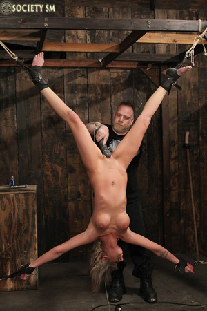 Lovely blonde tied, upturned and caned s - XXX Dessert - Picture 7