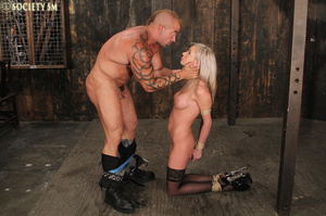Lovely blonde tied, upturned and caned s - XXX Dessert - Picture 9