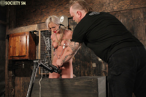 Lovely blonde tied, upturned and caned s - XXX Dessert - Picture 13
