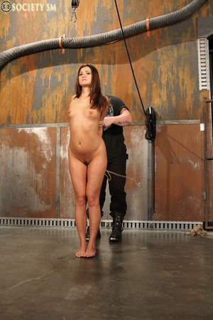 Sexy ass brunette bound, upturned, whipp - XXX Dessert - Picture 1