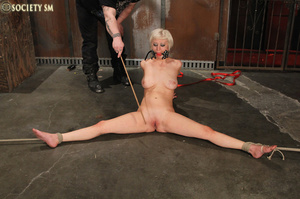 Lovely blonde tied, hung, gagged, shocke - XXX Dessert - Picture 11