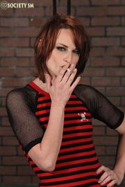 slim sexy redhead roped