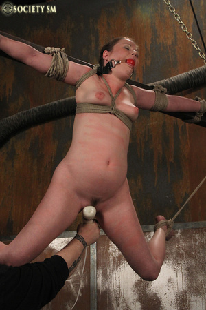 Cherry brunette roped, chained, hung, ca - XXX Dessert - Picture 2