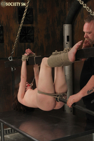 Cherry brunette roped, chained, hung, ca - XXX Dessert - Picture 6