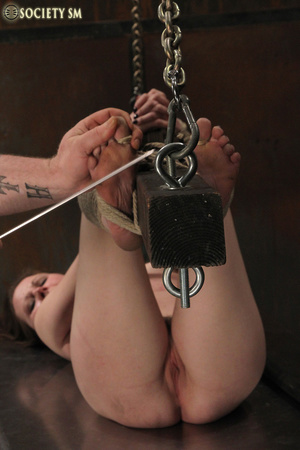 Cherry brunette roped, chained, hung, ca - XXX Dessert - Picture 8