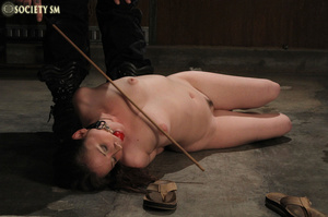 Cherry brunette roped, chained, hung, ca - XXX Dessert - Picture 10