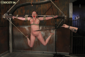 Cherry brunette roped, chained, hung, ca - XXX Dessert - Picture 13