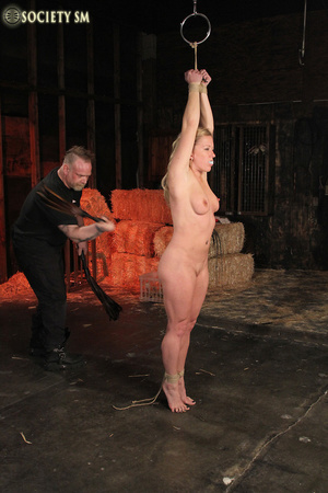 Hot chick roped, suspended and hung whip - XXX Dessert - Picture 1