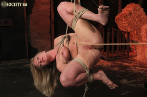 Hot chick roped, suspended and hung whip - XXX Dessert - Picture 9