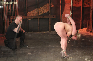 Hot chick roped, suspended and hung whip - XXX Dessert - Picture 12