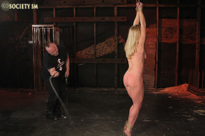 Hot chick roped, suspended and hung whip - XXX Dessert - Picture 15