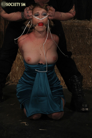 Hot chick gets tied, clipped, caned and  - XXX Dessert - Picture 2