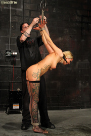 tattooed blonde gets gagged