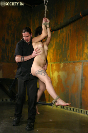 Hot ass tattooed brunette roped, hung, w - XXX Dessert - Picture 1