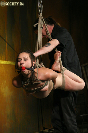 Hot ass tattooed brunette roped, hung, w - XXX Dessert - Picture 8