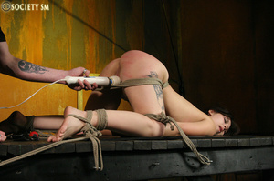 Hot ass tattooed brunette roped, hung, w - XXX Dessert - Picture 12